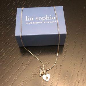 Lia Sophia 15'' peekaboo necklace with toggle